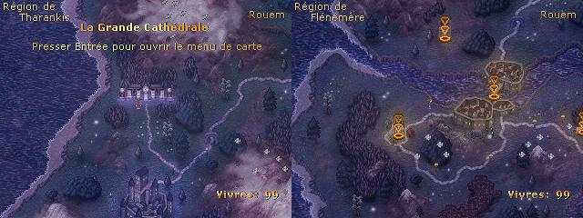 Deux vues du nouveau continent. C'est grand ! Et violet.